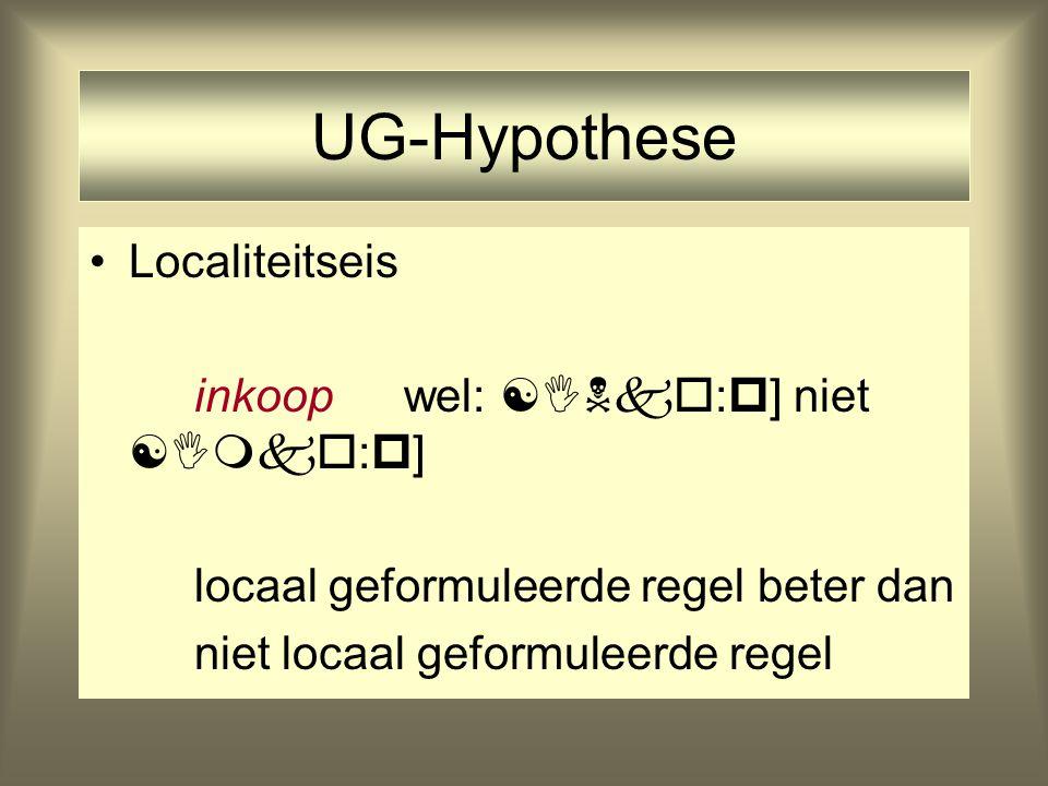 UG-Hypothese Localiteitseis inkoop wel: :] niet :]